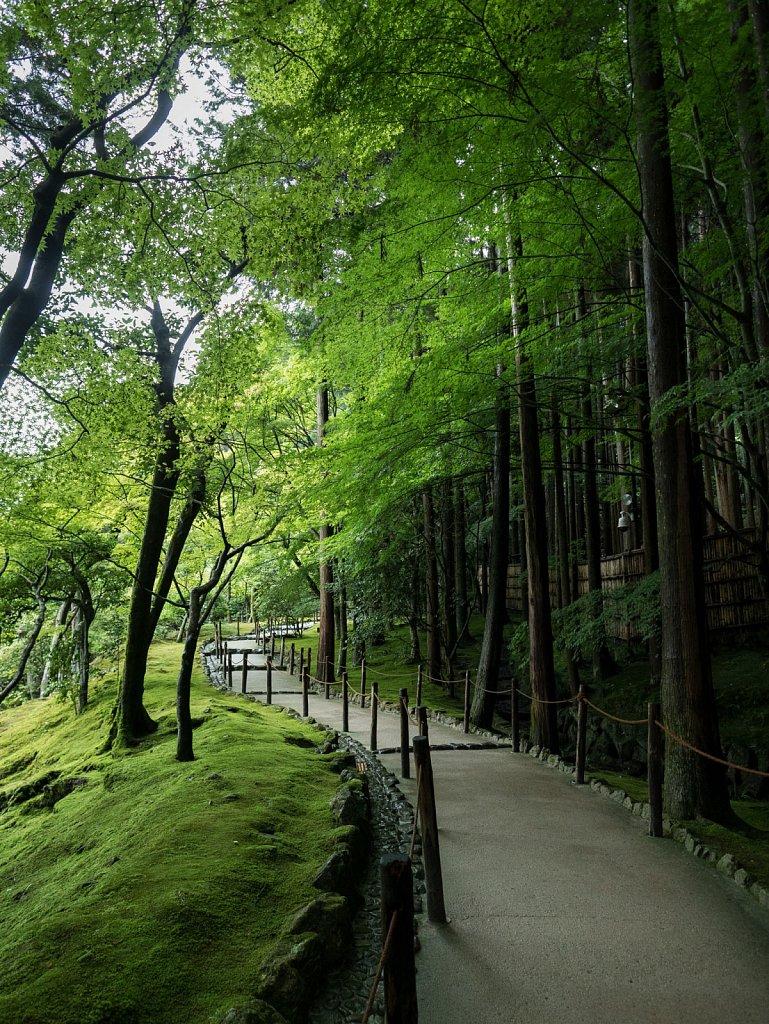 Inexplicably empty path at Ginkakuji
